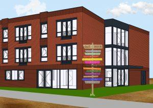 DO DJT huis in kleur met 1e paal A0